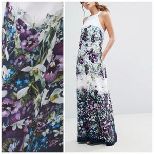 Ted Baker Enchantment Bow printed Maxi Dress NWT